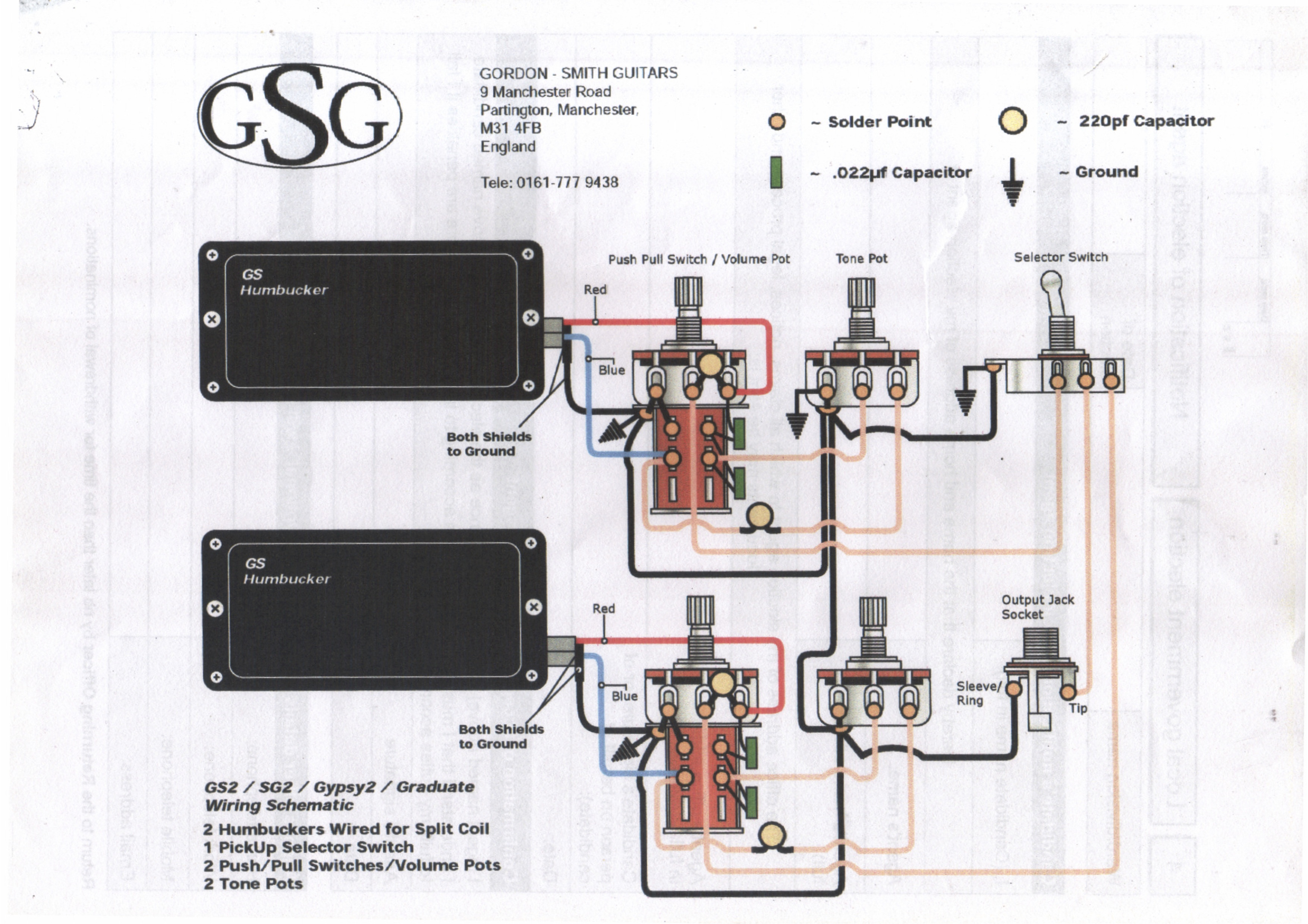 Whole Lotta Humbucker Wiring Diagram Schemes 2 Diagrams For Humbuckers With Coil Splits Marshallforum Com Jimmy Page