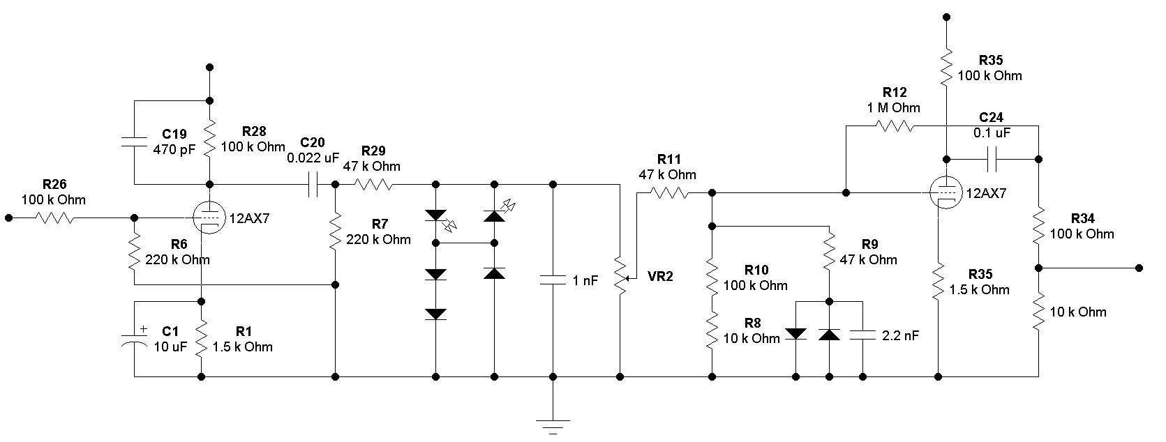 Silver Jubilee Preamp Gain Stage Assignments Layout . . . . |  MarshallForum.comMarshall Forum